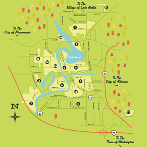 Eau Claire Neighborhood Map