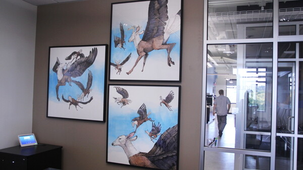 More than 50 works of art by UW-Eau Claire students and other Chippewa Valley artists will be permanently on display in the new JAMF Software building.