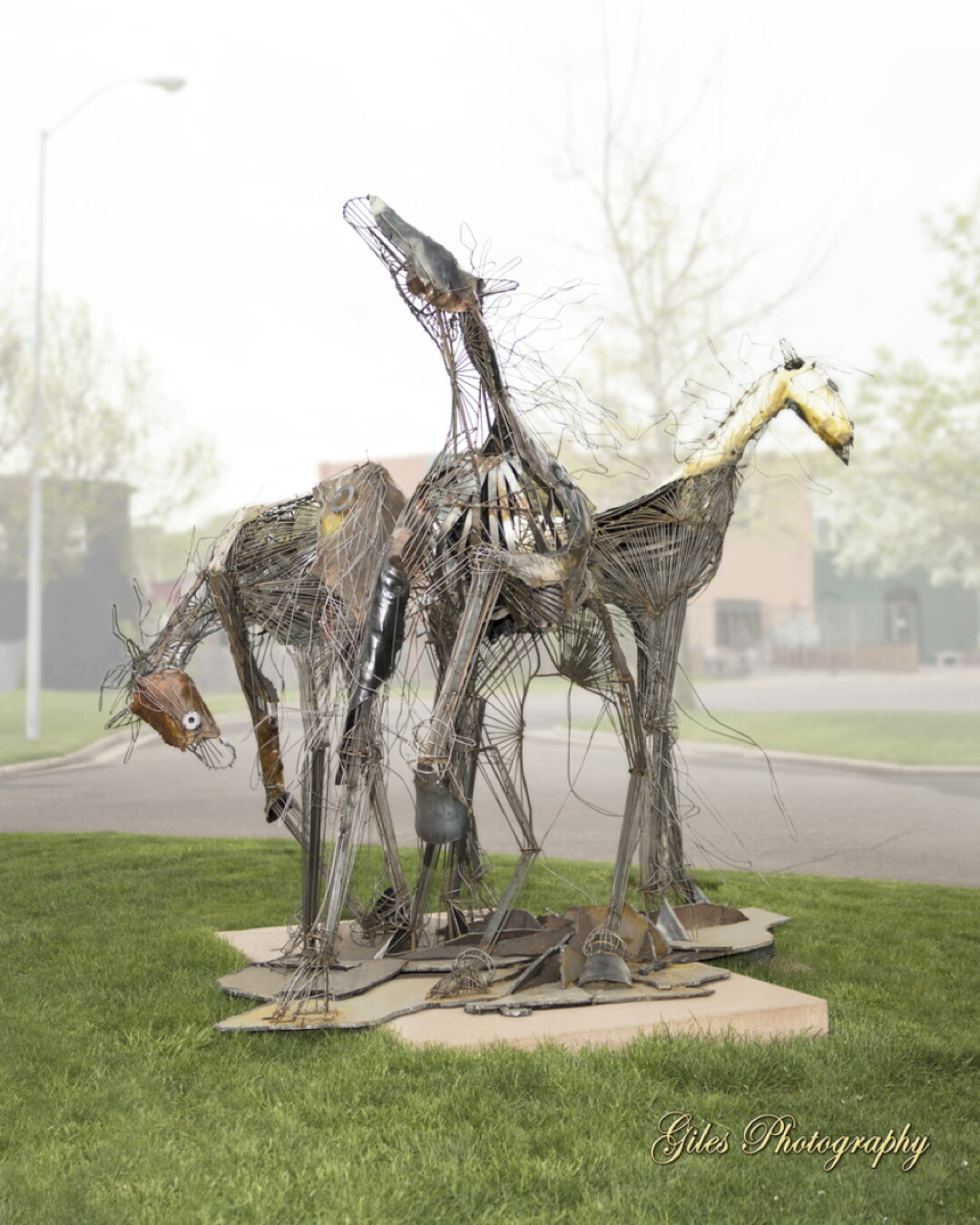 "Best of Show-Other Materials: ""Tres Caballos"" by Terry Meyer"