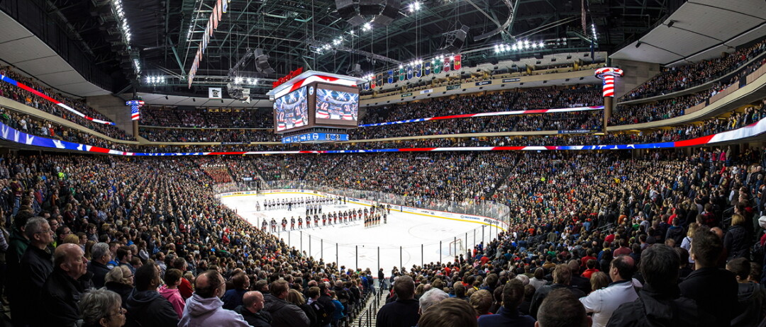 STATE OF HOCKEY. The Xcel Energy Center in St. Paul is the epicenter of Minnesota's hockey culture. (Image: Brendanjered | CC BY-SA 3.0)