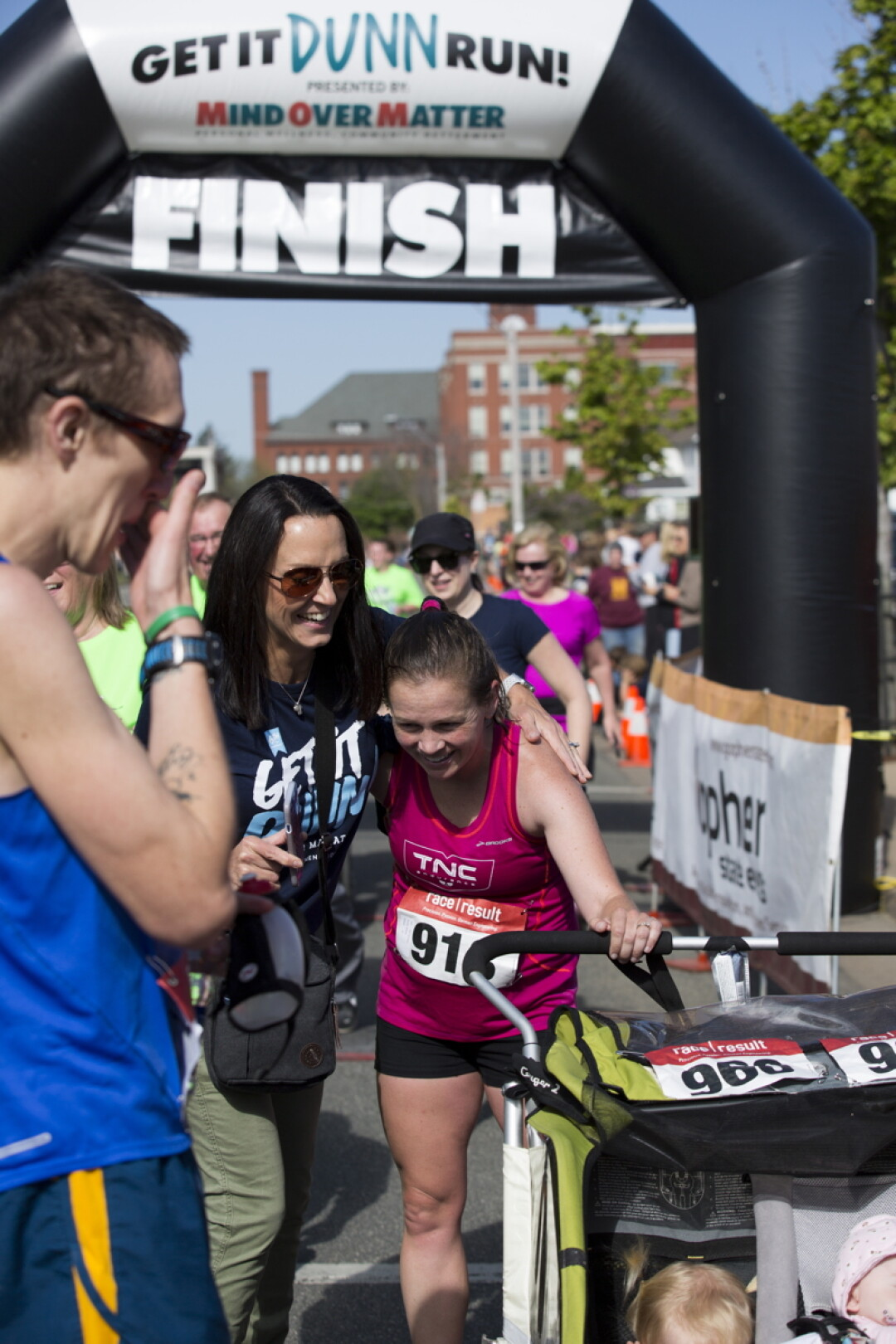 SHE DUNN IT.  Nichole Porath broke her own world record for the fastest women's half marathon with a double stroller at the 2018 Get it Dunn Run in Menomonie.
