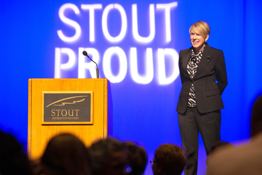 Katherine P. Frank visited the UW-Stout campus in November
