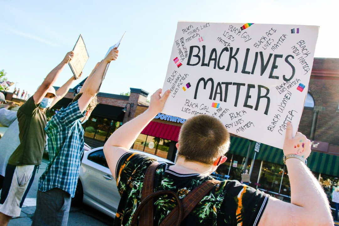 Amplify the People organized a Black Lives Matter protest in Menomonie on Sunday, June 14.